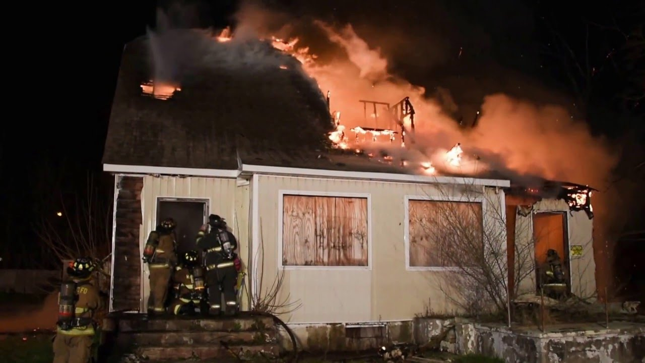 Video: Squatter pulled from burning, vacant Long Island house
